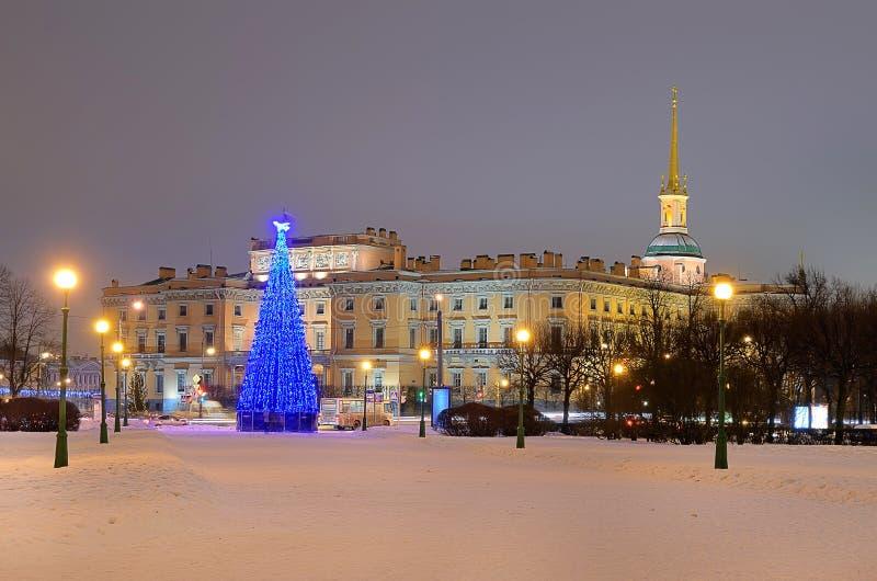 St Petersburg, Rússia na noite foto de stock