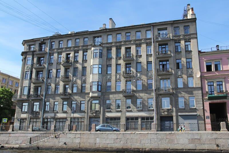 St Petersburg R?ssia A arquitetura da casa velha histórica fotos de stock royalty free