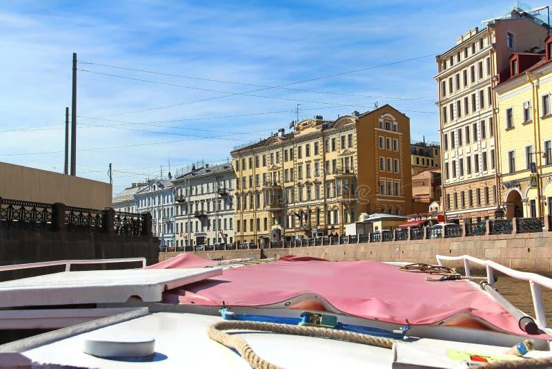 St Petersburg R?ssia Terraplenagem do rio de Fontanka fotos de stock