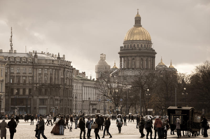 St Petersburg Rosja, Listopad, - 7, 2013: Pałac St Isaac i kwadrata ` s katedra główni widoki St Petersburg obrazy royalty free