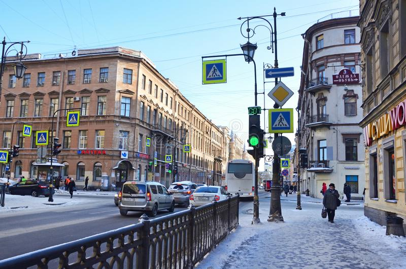 St Petersburg, Rosja, Luty, 27, 2018 E fotografia stock