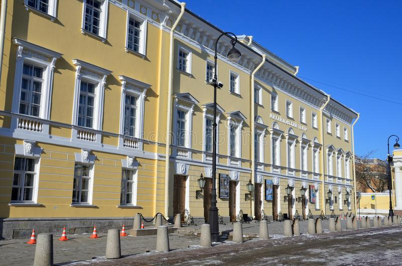 St Petersburg, Rosja, Luty, 27, 2018 Mikhailovsky Theatre w St Petersburg zdjęcia royalty free