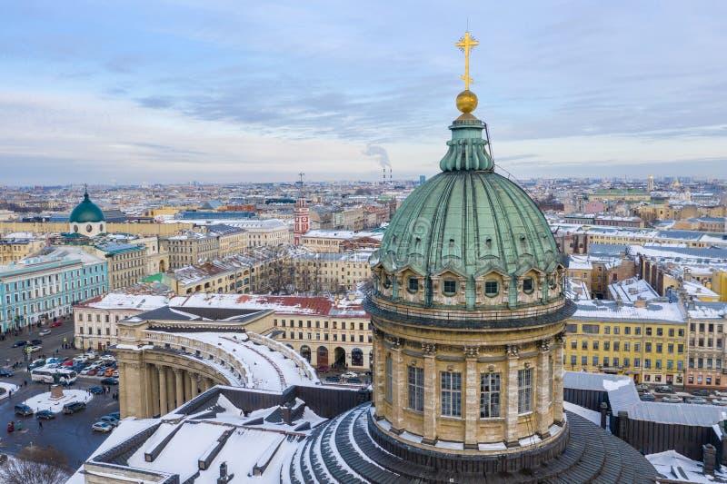 ST PETERSBURG ROSJA, MARZEC, -, 2019: Kazan Katedralna katedra Nasz dama Kazan w Świątobliwym Petersburg, Rosja zdjęcia stock
