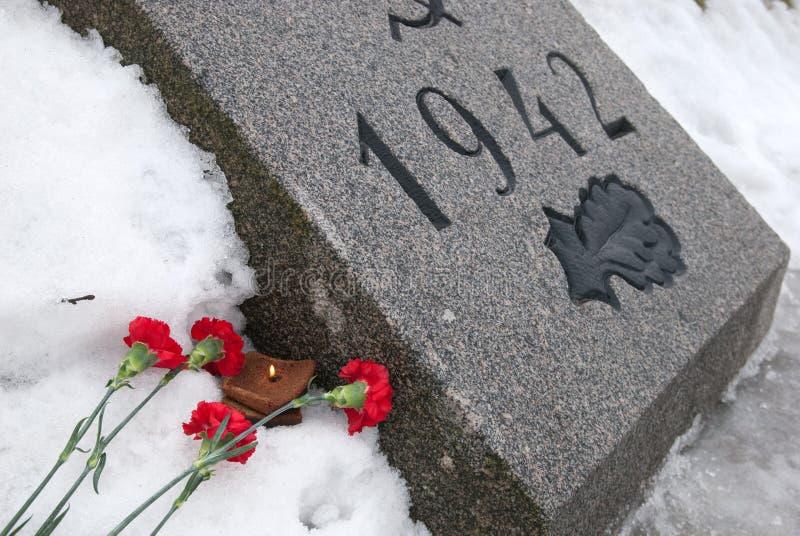 St Petersburg Rusia Cementerio del monumento de Piskaryovskoye fotografía de archivo