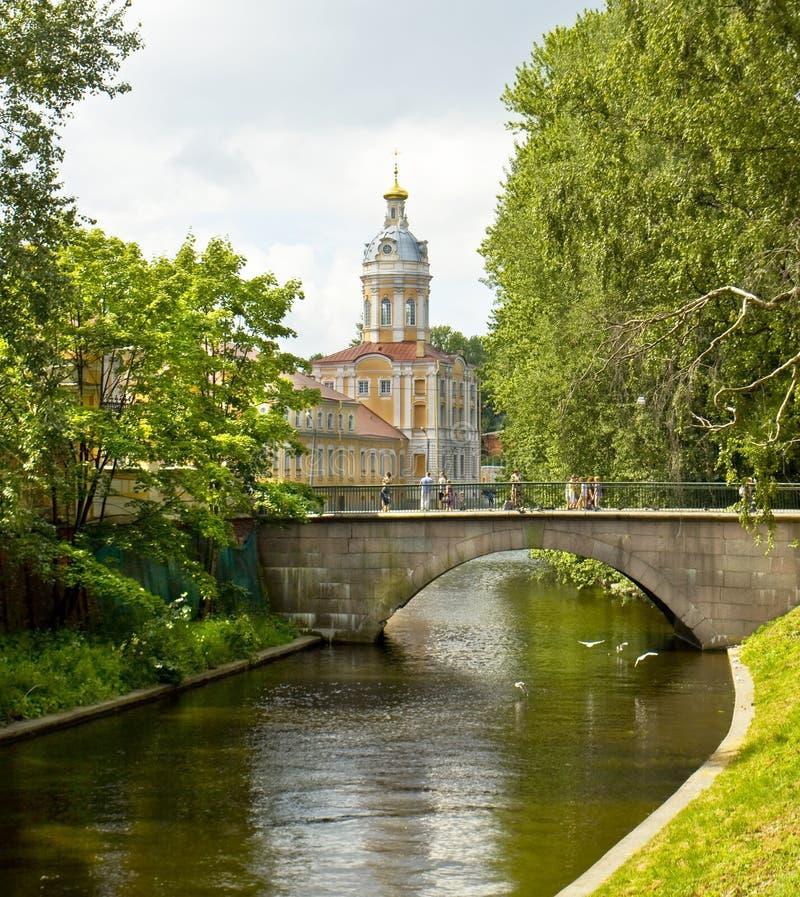 St Petersburg, monasterio Lavra de Alexander Nevskiy foto de archivo libre de regalías