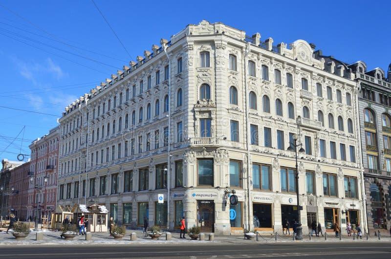 St Petersburg, Rusia, febrero, 27, 2018 Casa rentable de G I Gansen construyó en 1873-1874 años imagen de archivo