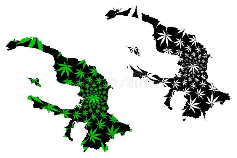 St Petersburg Rusia, las ciudades federales del mapa de Rusia es verde de la hoja del cáñamo y negro diseñados, St Petersburg Len stock de ilustración