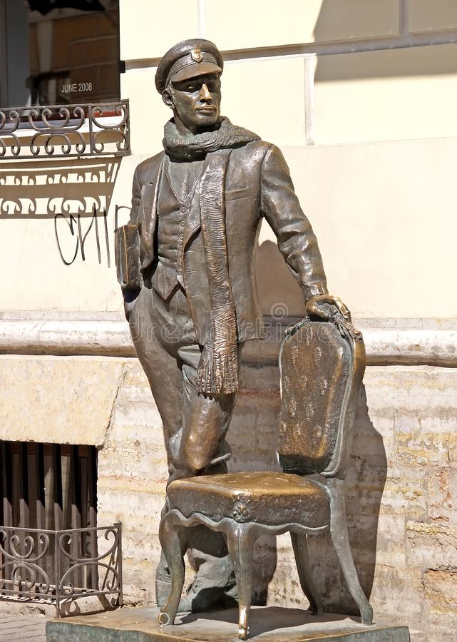 ST Petersburg, Rusland Een monument aan Ostap-Buigmachine op Italyanskaya-Straat royalty-vrije stock afbeeldingen