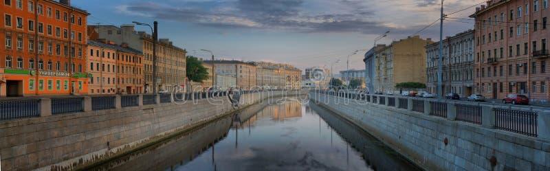 St. Petersburg, Rusland - 29 het Panorama van JULI 2018 van Obvodny-Kanaaldijk royalty-vrije stock foto's