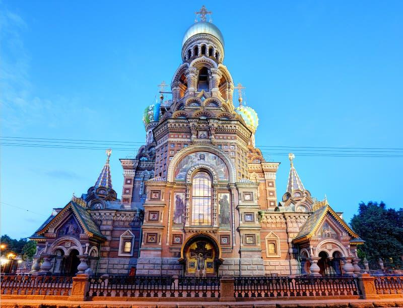 St. Petersburg, Rusland - Kathedraal van Onze Verlosser op Gemorst Bloed stock afbeeldingen
