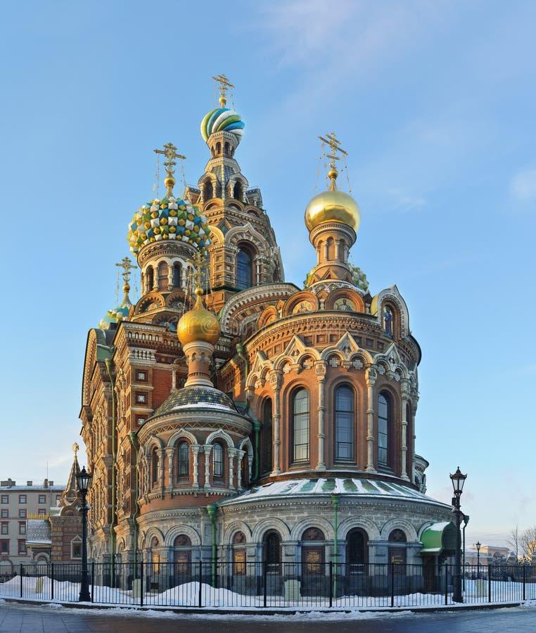 St. Petersburg, Rusland, Kuuroorden bij Bloed royalty-vrije stock foto's