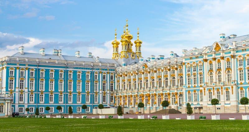 St. Petersburg Rusland van Tsarskoe Selo van het Catherine'spaleis stock fotografie