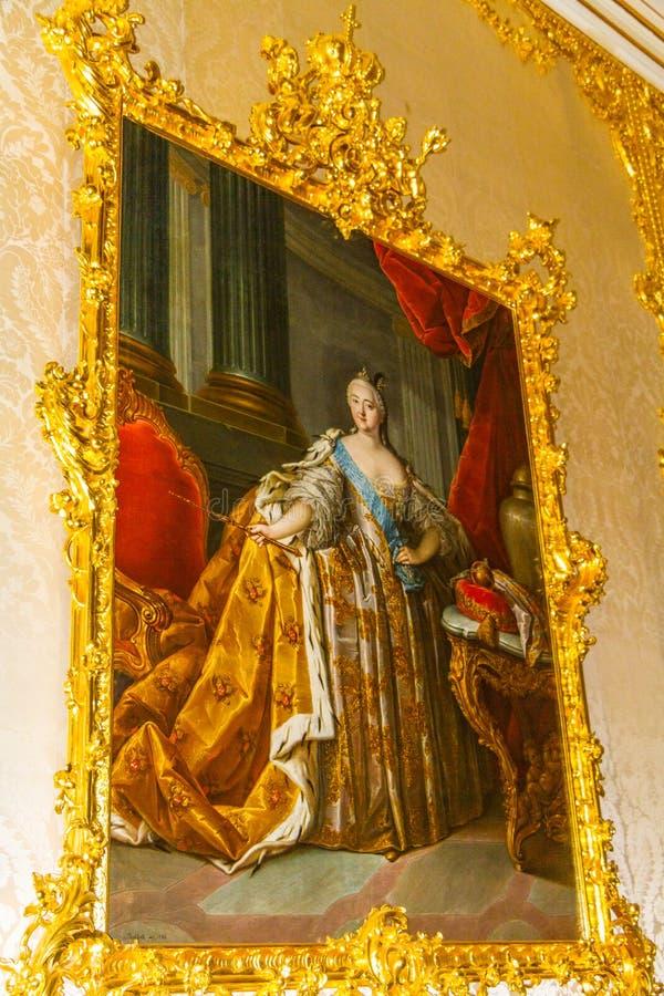 St. Petersburg Rusland van Tsarskoe Selo van het Catherine'spaleis royalty-vrije stock foto's