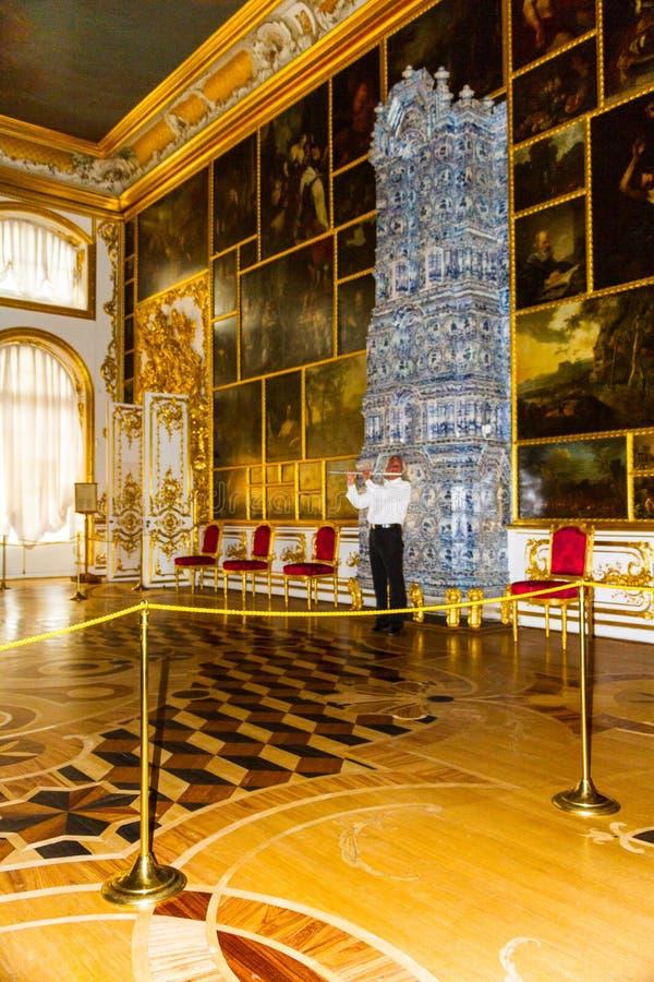 St. Petersburg Rusland van Tsarskoe Selo van het Catherine'spaleis stock foto