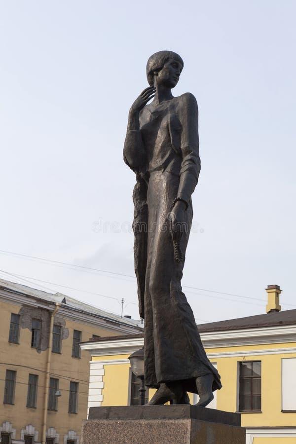 Free ST. PETERSBURG, RUSSIA - APRIL 05, 2015: Photo Of Monument Anna Akhmatova. Royalty Free Stock Photos - 52376638