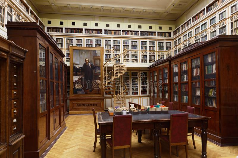 Scientific library of D.I. Mendeleyev Institute for Metrology royalty free stock images