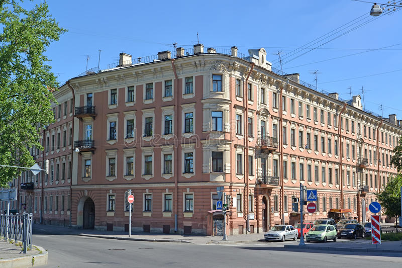 ST. PETERSBURG, RUSSIA. Building of the museum apartment of the poet Alexander Blok royalty free stock photo