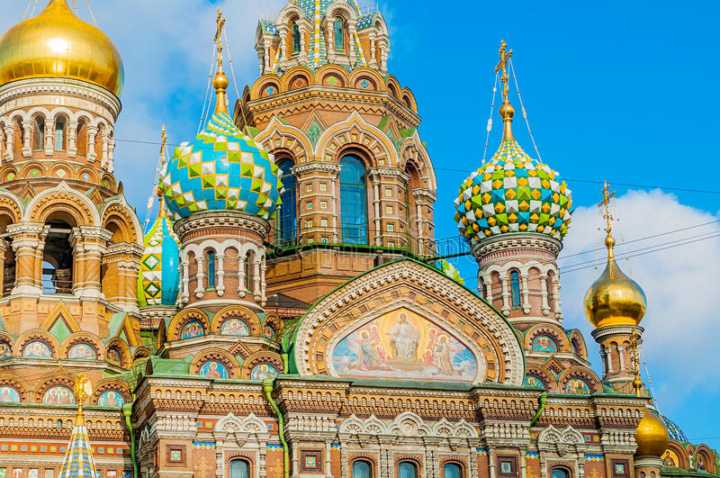 St Petersburg, Russia - Cathedral of Our Savior on Spilled Blood stock image