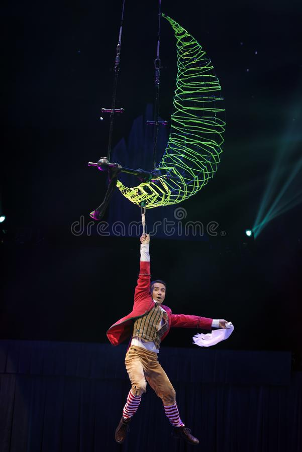 Circus show Snow Queen royalty free stock images