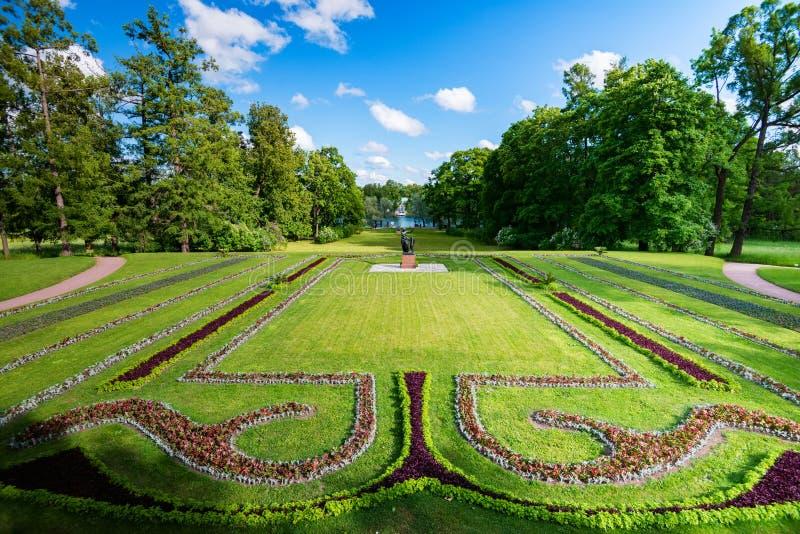 ST.PETERSBURG, RUSSIA - 15 JUNE 2015: Beautiful park in Tsarsloye Selo, Russia royalty free stock photo