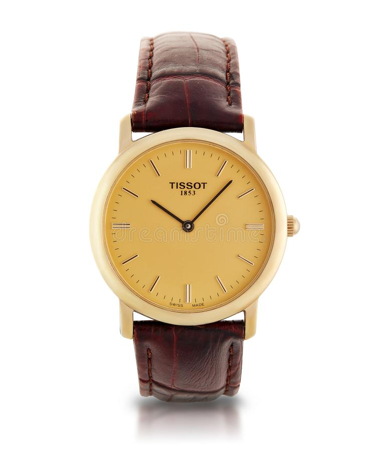 Free St.Petersburg, Russia - May 2018 - Male Wrist Watch. Tissot. Royalty Free Stock Photo - 116099675