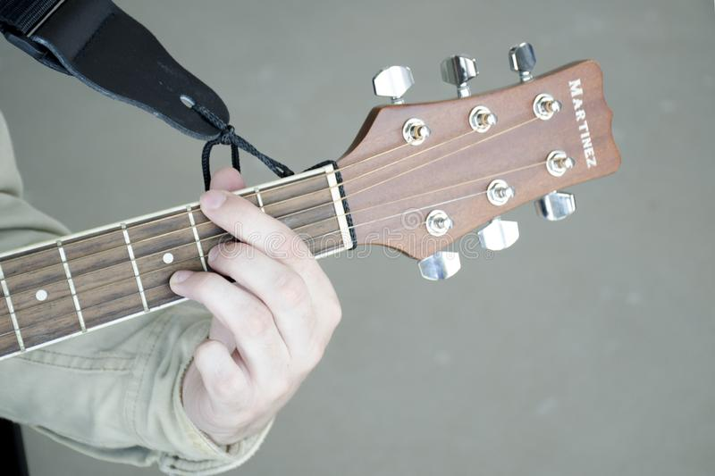 Guitarist playing editorial image. Image of countryside ...