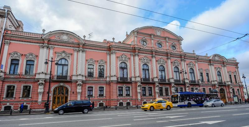 Old buildings in St. Petersburg, Russia stock images