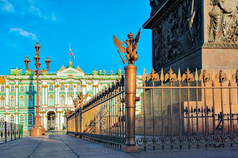 HERMITAGE MUSEUM SQUARE. St. Petersburg, Russia - October 21, 2018: State Hermitage Museum situated on Winter Palace Square. It is second largest art museum in stock photos
