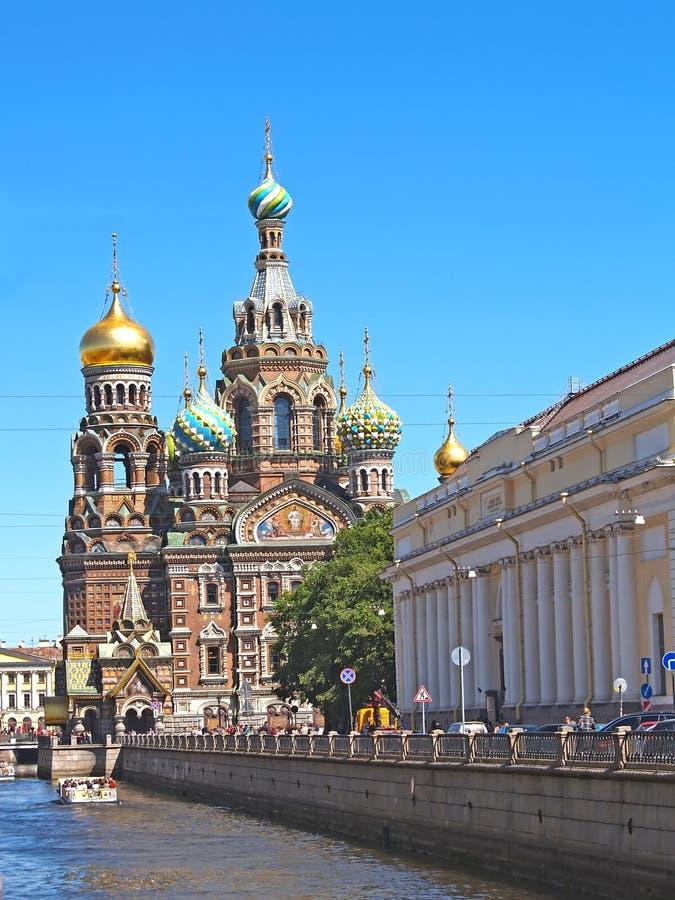 ST petersburg Russia Ortodoksalnego ko?ci zdjęcie stock
