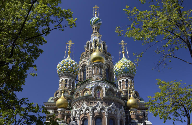 St Petersburg - Russian Federation. Church of the Resurrection of Christ in St Petersburg in the Russian Federation royalty free stock photography