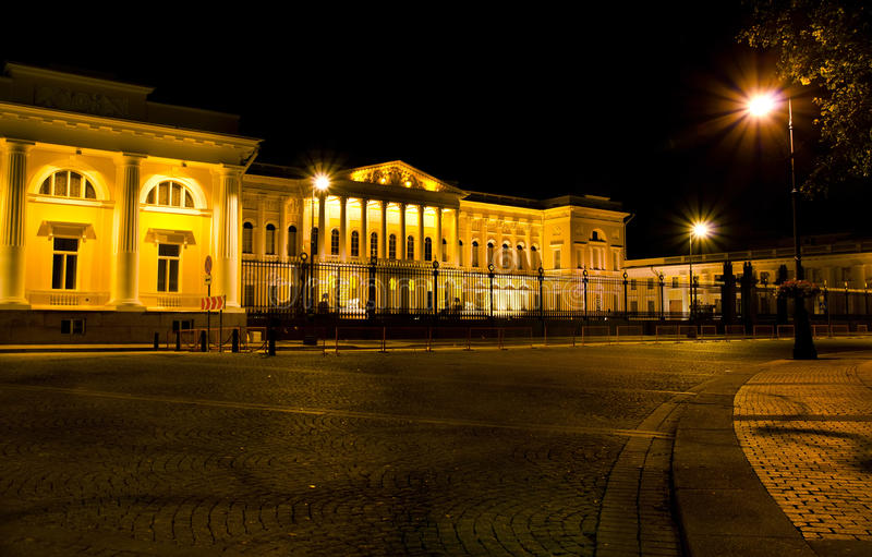 St. Petersburg, The Russian Museum at night royalty free stock photography