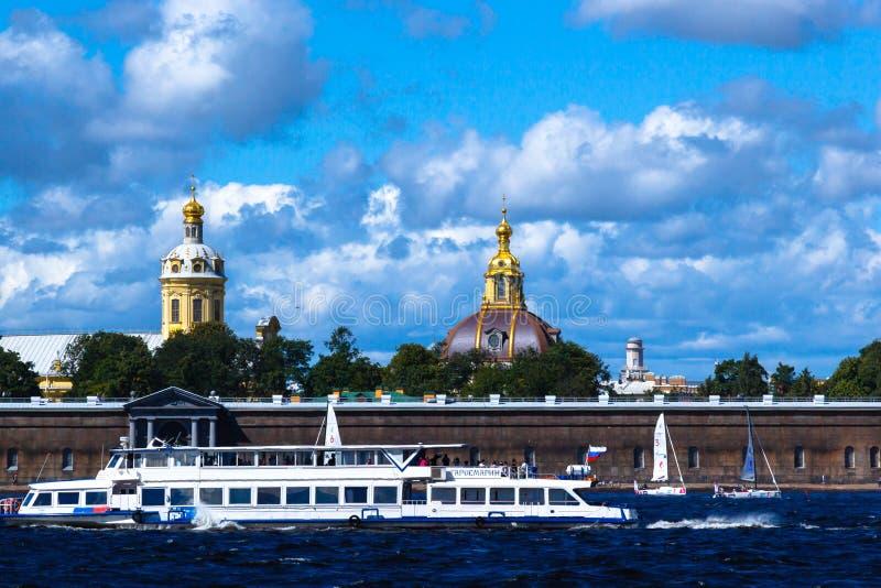 ST PETERSBURG, RUSSIE - 29 AOÛT 2018 : Vue dans Peter et Paul Fortress photographie stock