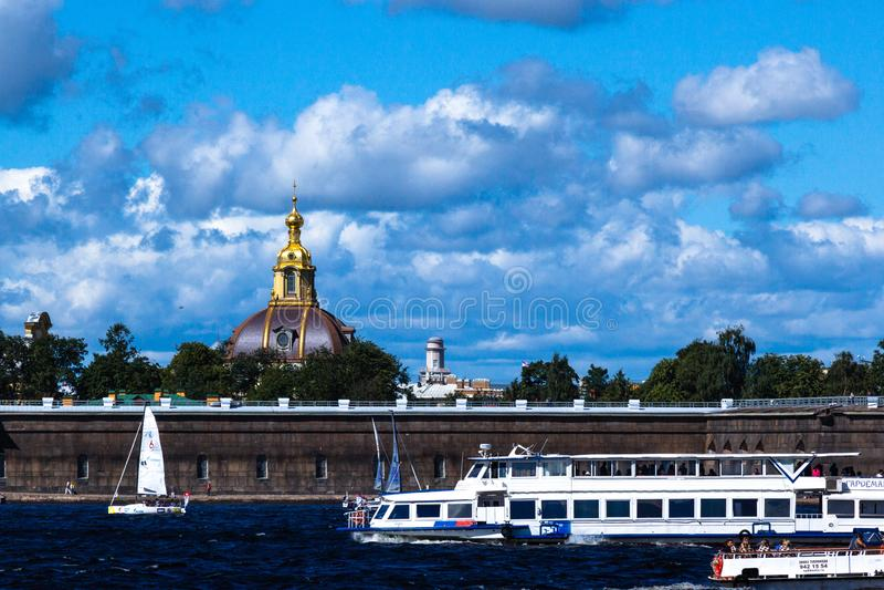 ST PETERSBURG, RUSSIE - 29 AOÛT 2018 : Vue dans Peter et Paul Fortress image stock