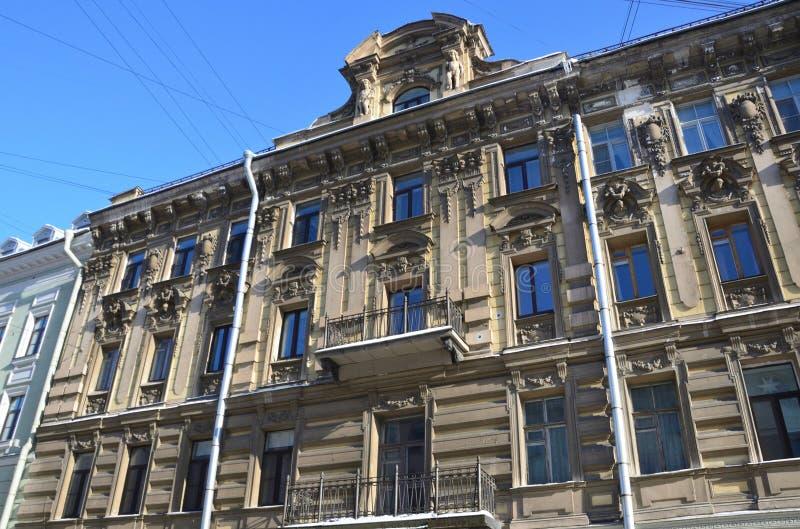 St Petersburg, Russie, février, 27, 2018 La Russie, St Petersbourg, rue de Malaya Konyushennaya, la maison 10 Chambre K I Isina images libres de droits