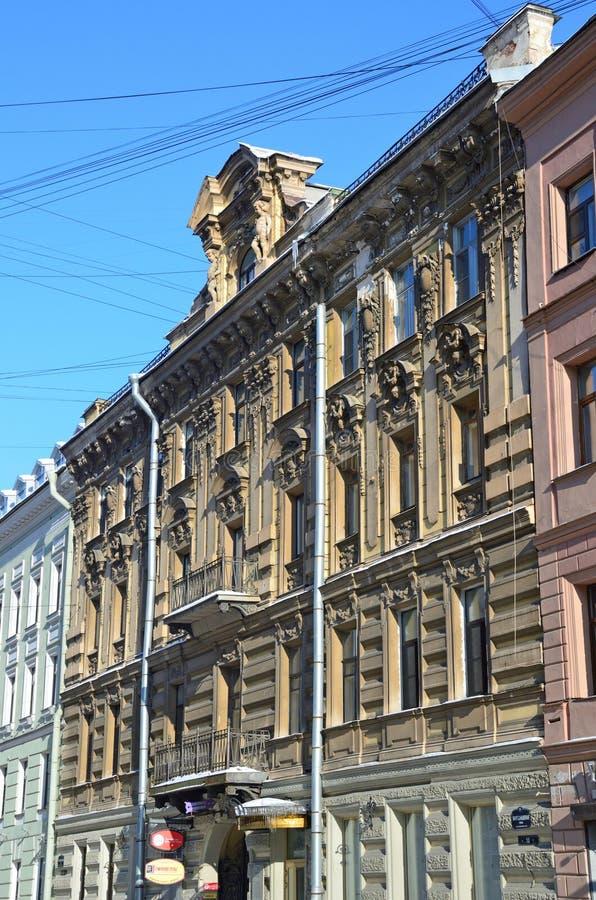 St Petersburg, Russie, février, 27, 2018 La Russie, St Petersbourg, rue de Malaya Konyushennaya, la maison 10 Chambre K I Isina images stock