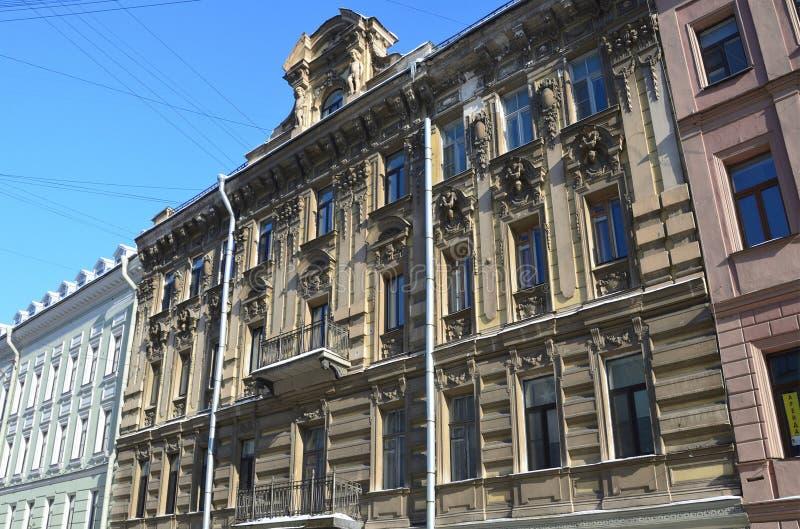 St Petersburg, Russie, février, 27, 2018 La Russie, St Petersbourg, rue de Malaya Konyushennaya, la maison 10 Chambre K I Isina photo stock