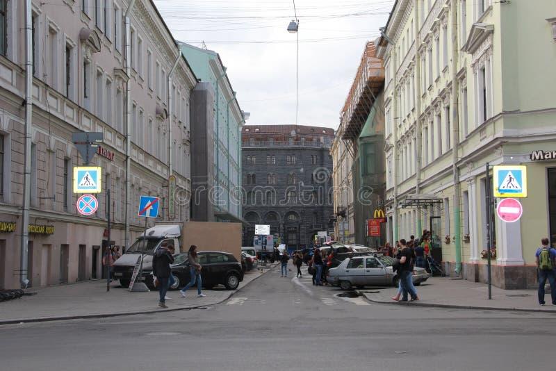 St Petersburg, Russie 12 juin 2015 : Bâtiments sur la rue de Malaya Morskaya images stock