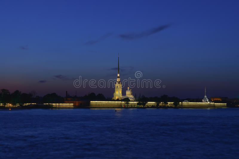 St Petersburg, Russie, nuit images stock