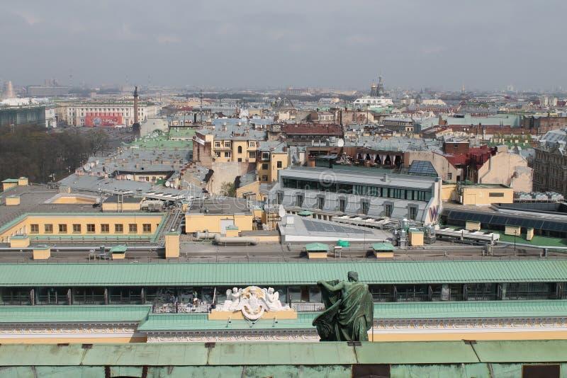 St Petersburg Russie Vue du haut de StIsaak images libres de droits
