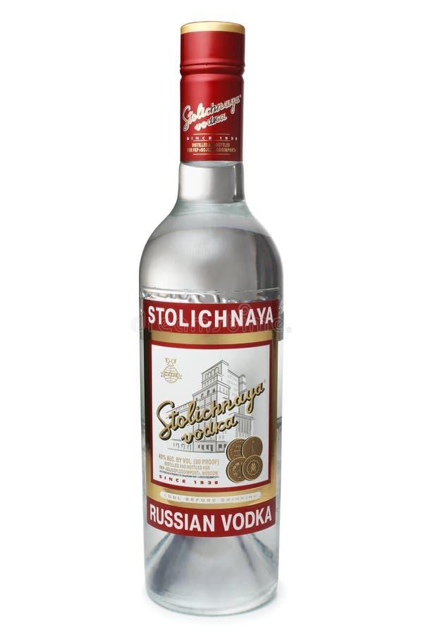 St. PETERSBURG, RUSSLAND - 9. Februar 2016: Flasche Alc Wodka ...