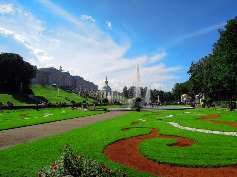 St Petersburg Ryssland, Peterhof fotografering för bildbyråer