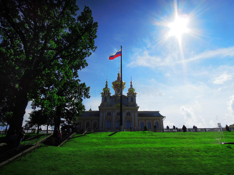 St Petersburg Ryssland, Peterhof arkivfoton