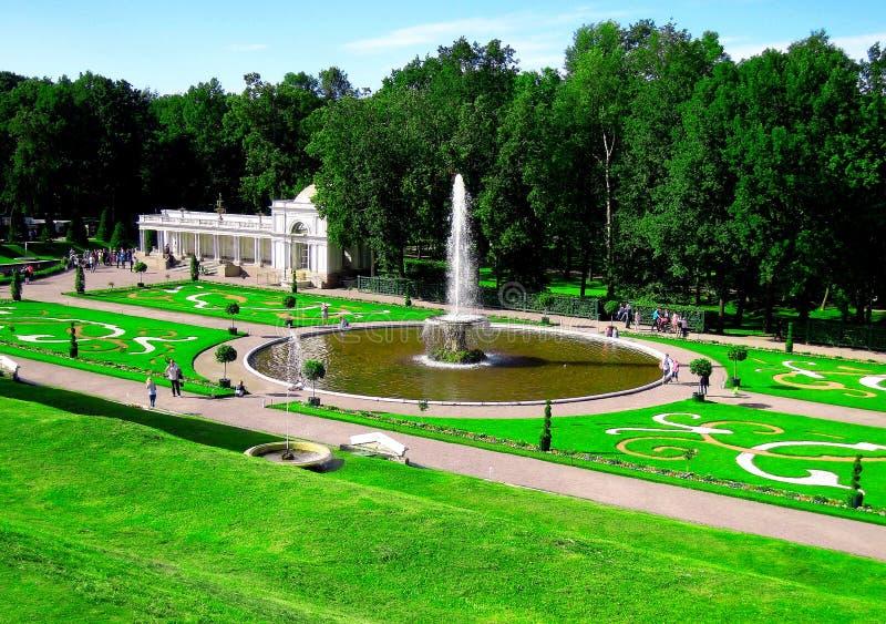 St Petersburg Ryssland, Peterhof royaltyfri foto
