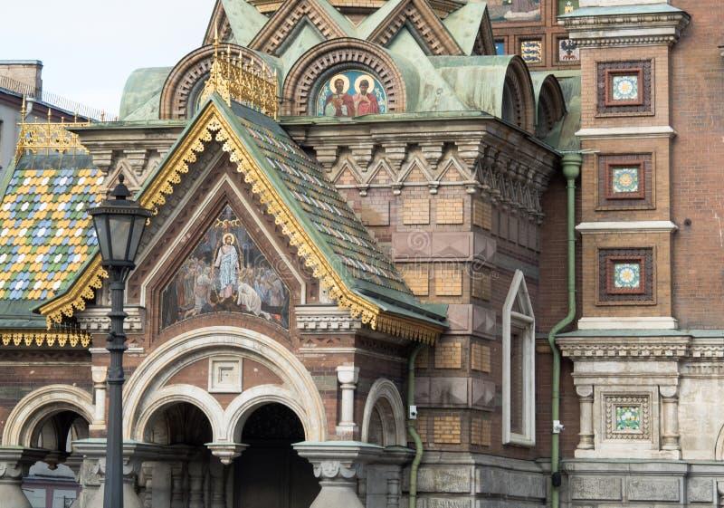 St Petersburg Ryssland - September 10, 2017: Den ortodoxa domkyrkan av vår frälsare på det spillda blodet i St Petersburg, Ryssla royaltyfri foto