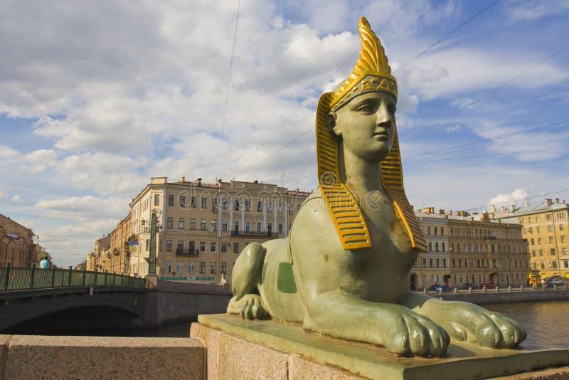 St. Petersburg, rzeźba sfinks fotografia stock