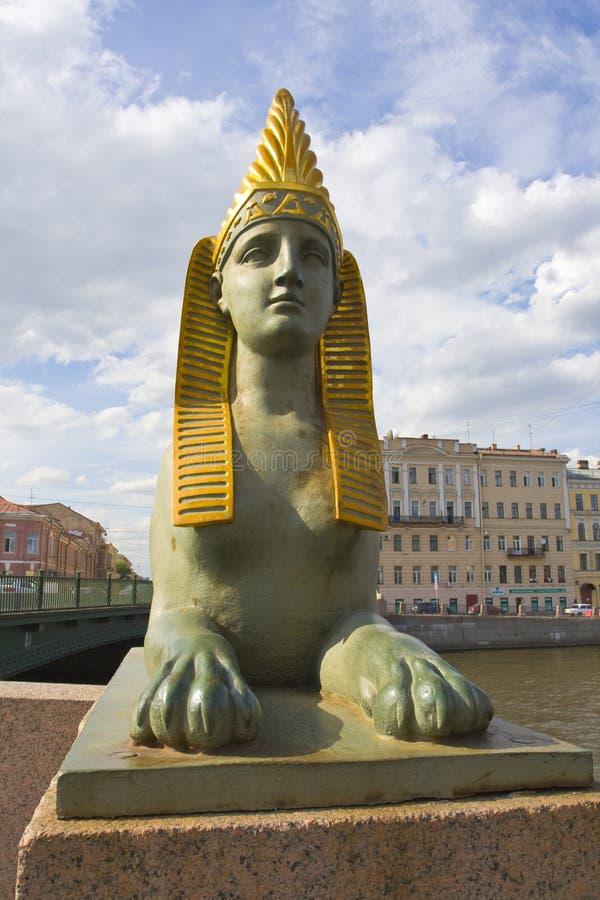 St Petersburg skulptur av sphinxen arkivbild