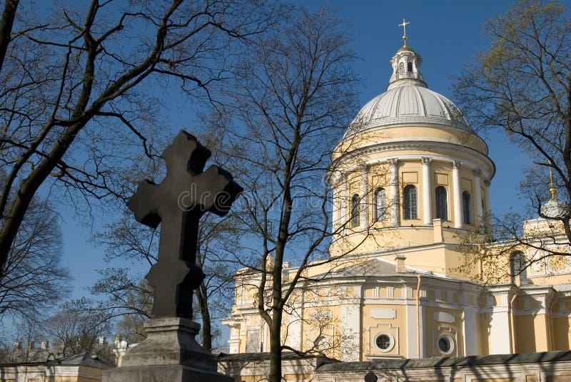 St Petersburg, St. Alexander Nevsky Lavra fotos de archivo
