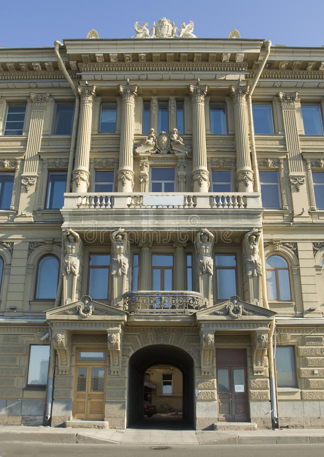St. Petersburg, stary budynek obraz stock