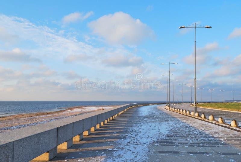 St Petersburg. Terraplén de la bahía de Finlandia imagen de archivo libre de regalías
