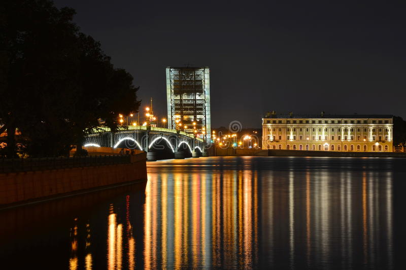 Download St. Petersburg, Trinity Bridge Stock Image - Image: 26045623